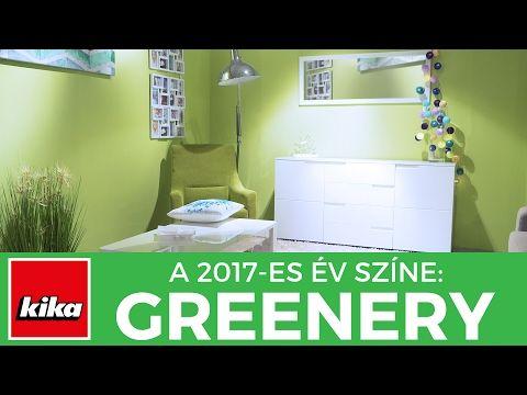 Bemutatjuk a 2017-es év színét | Greenery - a természet ereje a lakberendezésben | Kika Magyarország - YouTube
