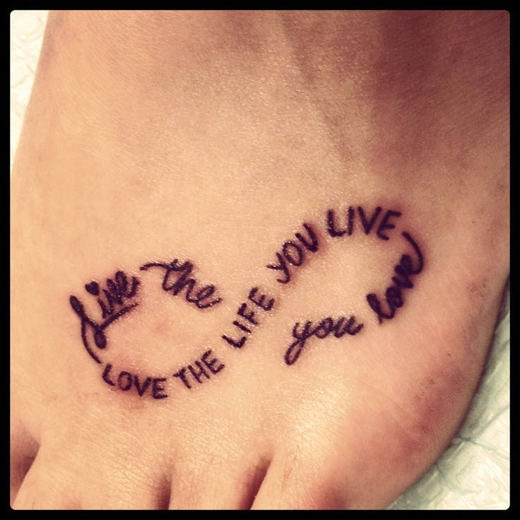 Words And Placement I Dont Like The Infinity Symbol Though