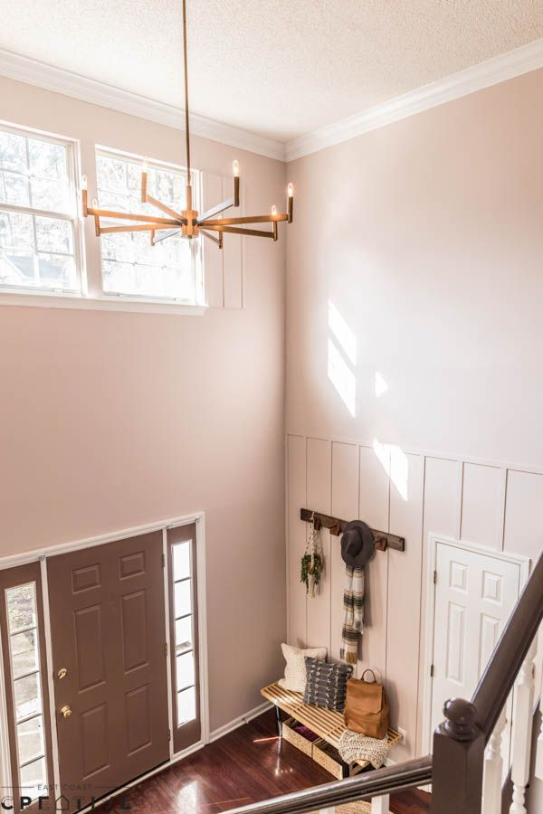 A Pink Foyer A Fresh Coat Of Paint Can Make A Huge