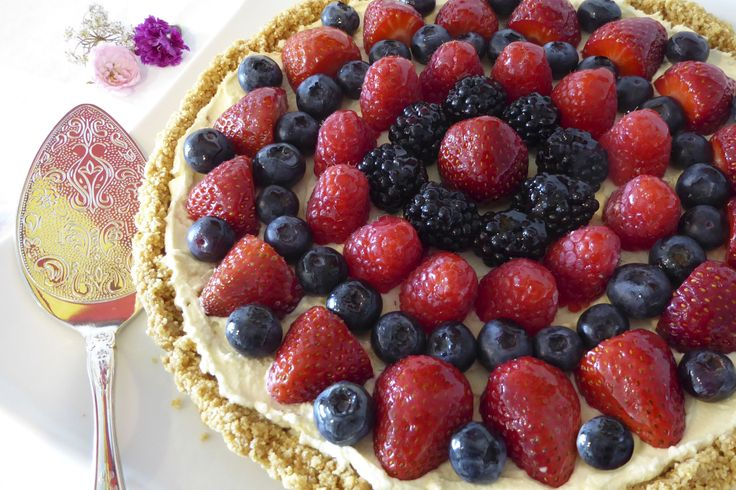 Berry Mascarpone Tart - a celebration of summer berries.