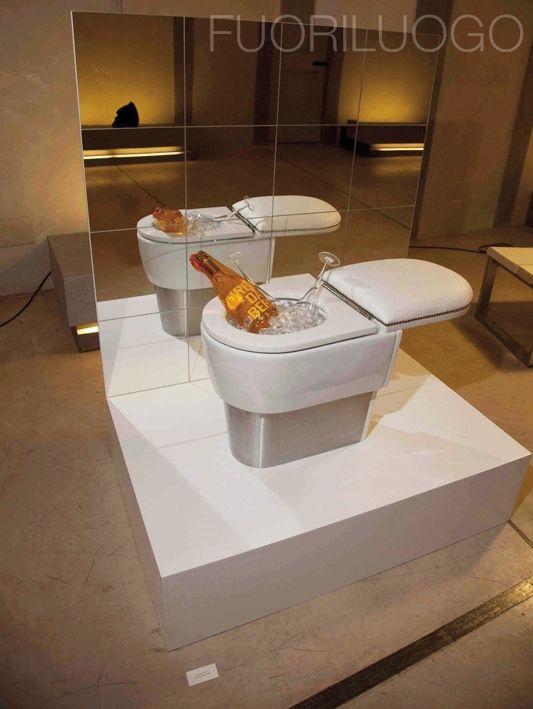 """Firenze da bere"" - ALL RIGHTS RESERVED [Edizione 2010 Fuoriluogo: WChairs] #art #wc #toilets #bidet"