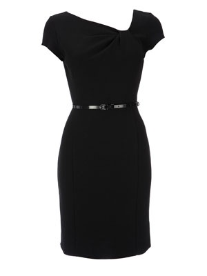 Sexy!!!!  The LBD  Embrace your curves with this figure flattering dress. Tone it down with flats in the day and glam up with heels for evening. Every wardrobe should have a LBD for all occasions.     Black asymmetric ponte dress, £35, Wallis
