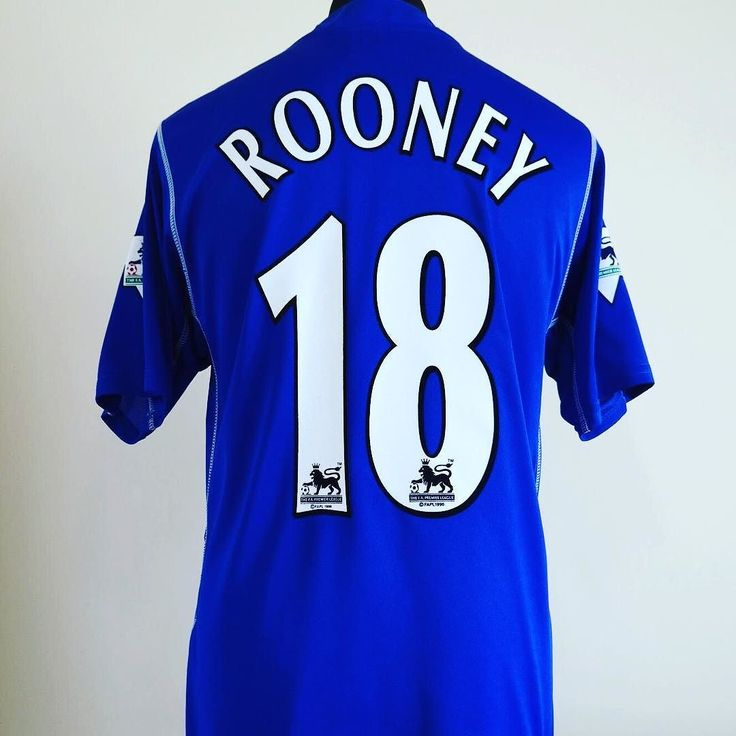 2002-03 Everton home shirt L Rooney #18 - zinger of an Everton shirt from @classic_eleven_united get yours #rooney #everton #efc #footballshirtcollective
