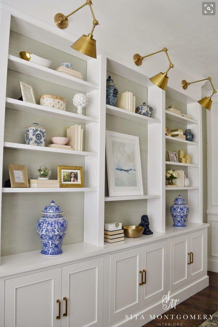 Bookshelves, lighting