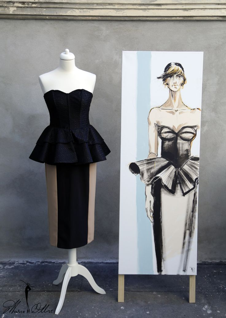 Marie Ollie Fashion Illustration by Arthur Dinu