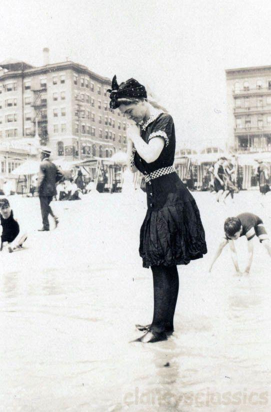 1910 Atlantic City NJ Beach Bathing Beauty AMAZING Costume
