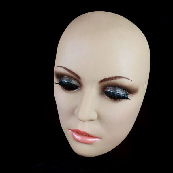 Günstige [H 6] Top qualität maskerade masken, silikon weibliche maske crossdresser, skeleton maske kostüm halloween, Kaufe Qualität Partei Masken direkt vom China-Lieferanten: