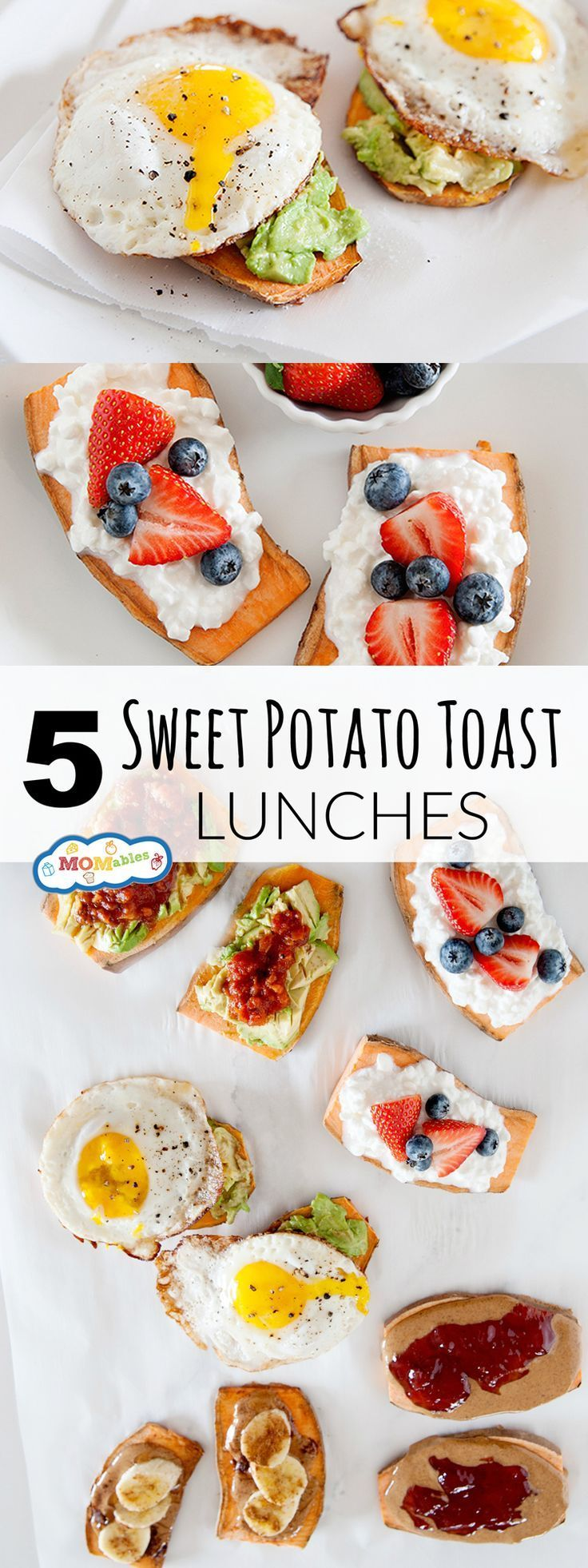 Move over daily sandwich because these sweet potato toast lunches are the next hot thing! #glutenfree #sweetpotatotoast