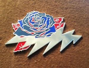 "Grateful Dead ""Winterland Rose"" Pin 13Kurri Denee"