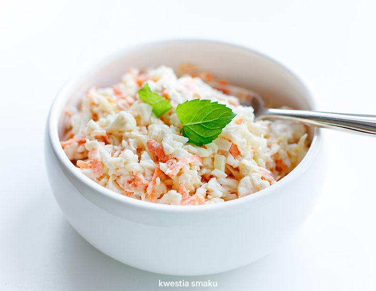 Surówka coleslaw z kalafiora