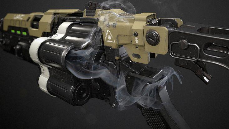 Doom 4 | Grenade Launcher , Jeremy M. Brown on ArtStation at https://www.artstation.com/artwork/5avdP