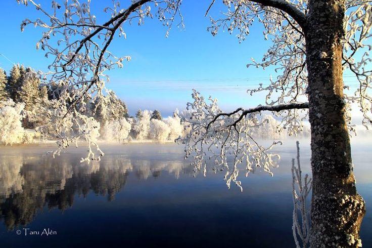 Näkymä Siltasaaresta Piestanyn rantatielle. Heinola