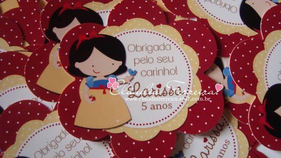 Tags Princesas | Cláudia Ferreira | 2DC001 - Elo7