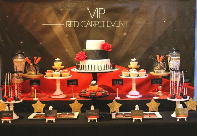 Idéias VIP da festa de Red Carpet