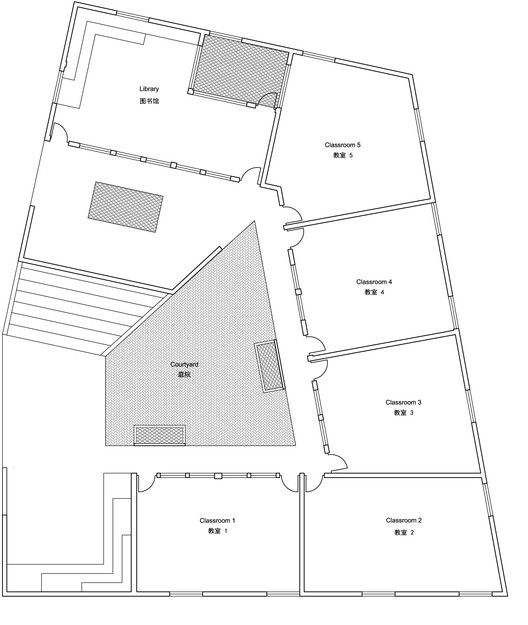 Mulan Primary School,First Floor Plan