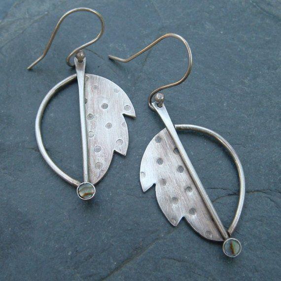 Modern Leaf Earrings by artdi on Etsy, $78.00