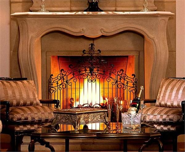 The Parc French Stone Fireplace Mantel From Design The Space Cozy Fireplaces Pinterest