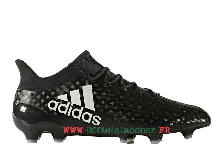 Nouveaux produits Adidas Football Homme Chaussure X 16.1 terrain souple  Noir Blanc BB5620-Chaussure de