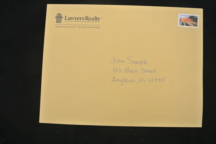Oh Law Firm >> Law Firm offers valuable information to distressed home owners, using a 'REAL' Hand Addressed ...