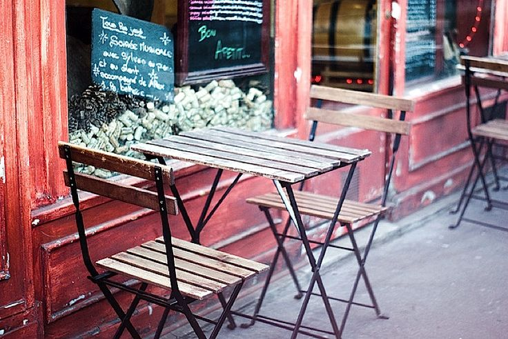 Paris sidewalk cafe   by © Candice Lesage