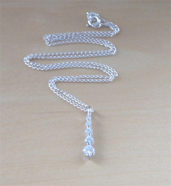 925 Cubic Zirconia Pendant &18 Sterling by joannasjewellerycouk