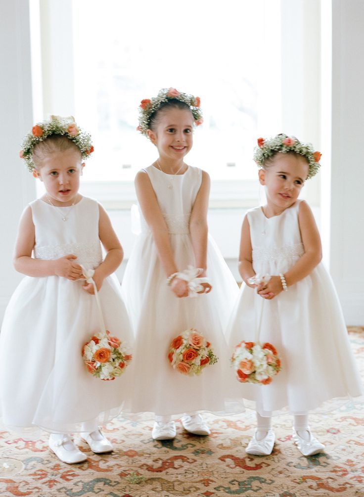 Flower Girls -- too too adorable! See the wedding here: http://www.StyleMePretty.com/2014/05/19/elegant-otesaga-resort-wedding/ CarolineYoonPhotography.com