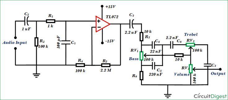 Admirable Simple Audio Tone Control Circuit Diagram Home Electronics Wiring Database Cominyuccorg