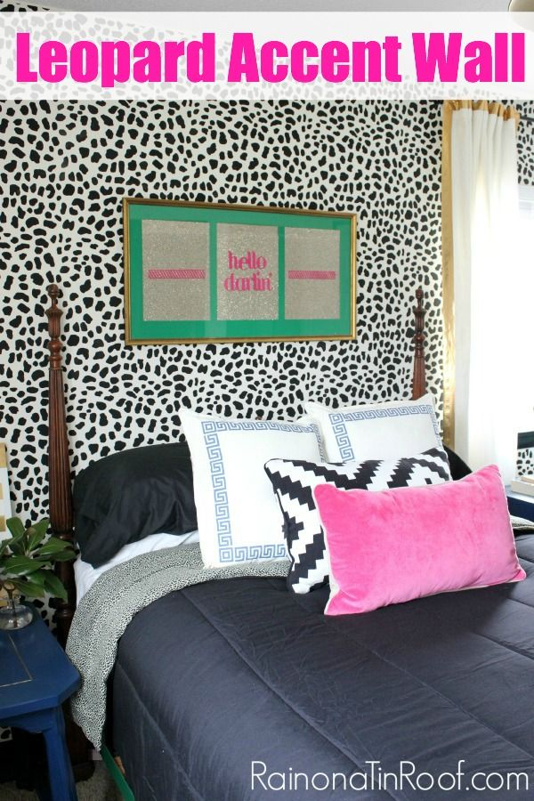 Accent Wall: Stenciled Leopard Skin {Welcome to the jungle.}