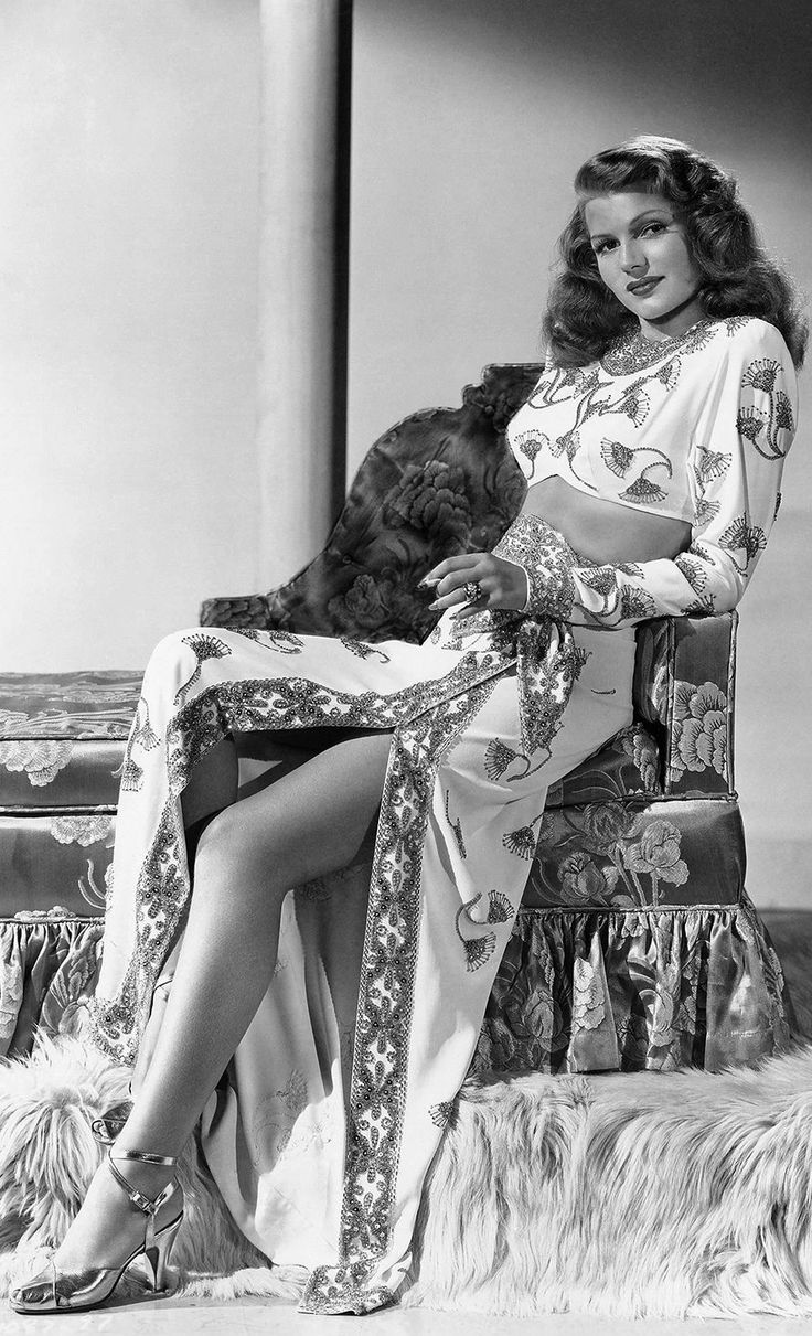 Rita Hayworth   Now you're looking at a real beauty!