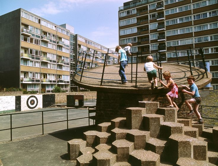 Brutalist playgrounds: 1960s concrete jungle gyms remade in pastel foam   Art and design   The Guardian