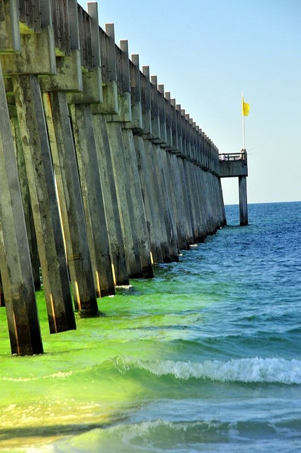 Pensacola pier florida via flickr all southern pinterest for Fishing piers in florida