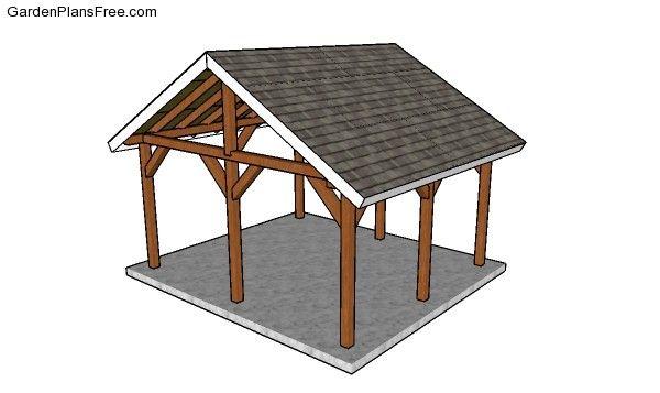 14 16 Outdoor Pavilion Plans Free Pdf Download Pavilion Plans