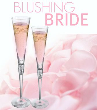 The Blushing Bride Cocktail  Ingredients:  1 oz peach schnapps  1 oz grenadine  4 oz Champagne  Preparation:  1. Pour the peach schnapps and grenadine into a Champagne flute.  2. Top with Champagne.  NOTE: If you love this cocktail try this unique Bridal Shower Favor:  Blushing Bride lip balm: Blushing Bride is a champagne cocktail balm with peach and grenadine.