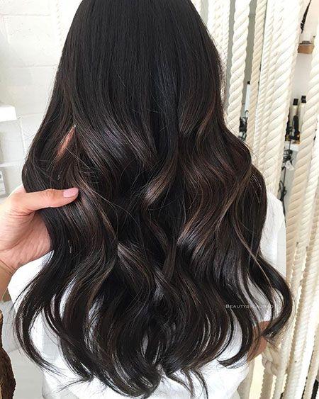 20 long wavy brown hair