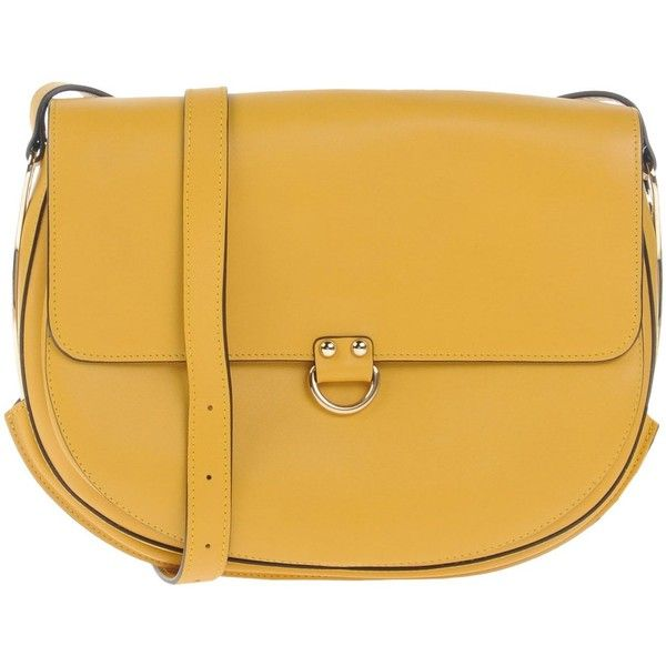 Fratelli Rossetti Cross-body Bag (€470) ❤ liked on Polyvore featuring bags, handbags, shoulder bags, ochre, leather shoulder handbags, leather cross body handbags, yellow crossbody purse, shoulder messenger bag and crossbody shoulder bag