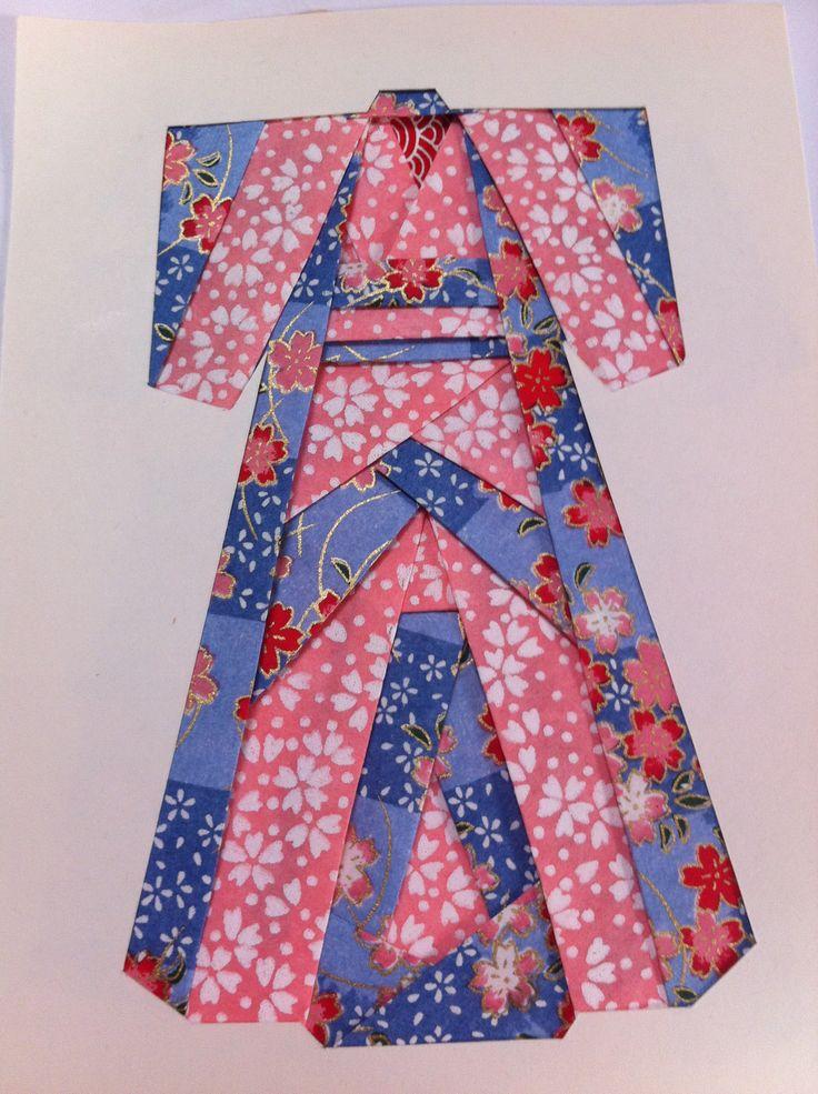 Iris folded kimono