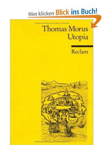 Utopia: Amazon.de: Thomas Morus, Eberhard Jäckel, Gerhard Ritter: Bücher