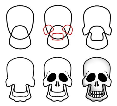 A more elaborate cartoon skull that you can learn to draw! :)