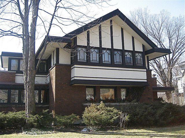 Frederick B. Carter House, 1024 Judson Avenue, Evanston, Illinois (1909-10) , Walter Burley Griffin, chicagogeek on Flickr