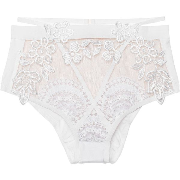 FOR LOVE AND LEMONS Lucia Hi Waist White // Lace panty ($185) ❤ liked on Polyvore featuring intimates, lingerie, underwear, transparent lingerie, lace lingerie, high waisted lingerie, white lace lingerie and sheer lace lingerie