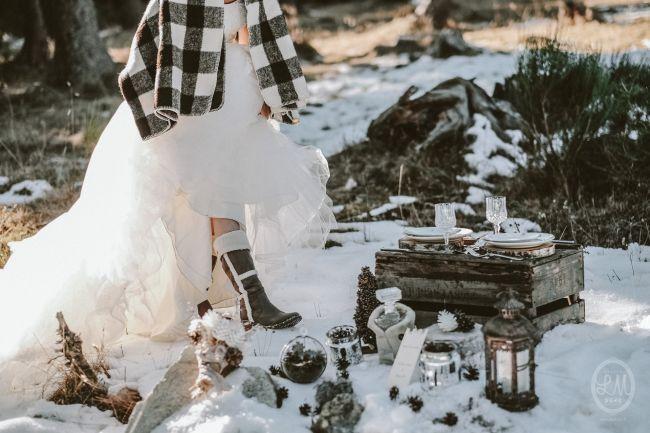 Une inspiration romance en montagne pour un mariage en hiver Image: 21