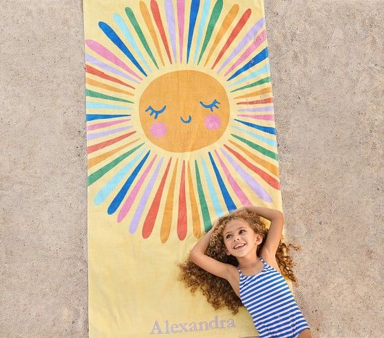 Sun Kid Beach Towel Kids Beach Towels Beach Towel Towels Design