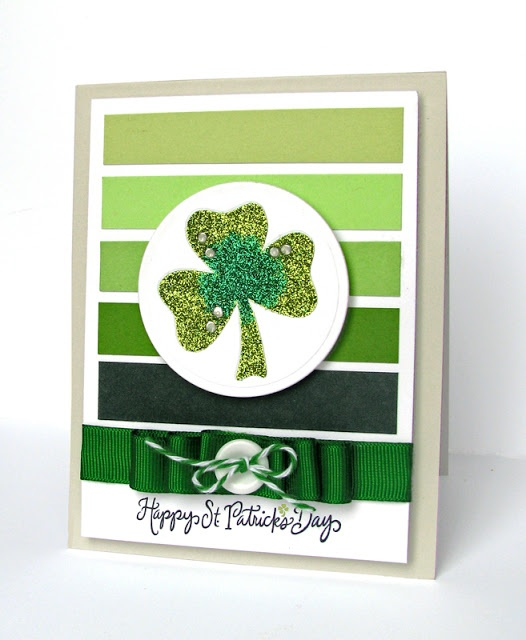 DeNami Glitter Shamrock St. Patrick's card by @Dana Seymour