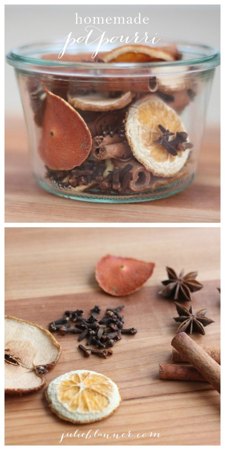 All Natural Homemade Potpourri by Julie Blanner will make you happy! A combination of spices and dried fruit magically create the most amazing aroma. You can use this in a beautiful bowl (Farmhouse lovers…how about a dough bowl : ) or you can simmer it on top of the stove. Drop by and get your DIY…GREAT for gifts too!