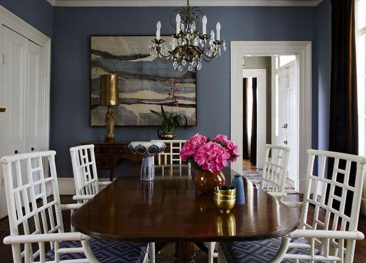 dining rooms david hicks la fiorentina blue u0026 brown cushions white lattice chairs blue