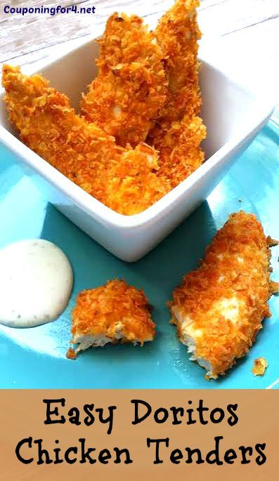 Easy Doritos Chicken Tenders  Recipe - this amazingly easy recipe will having you making a tasty lunch or dinner in minutes!