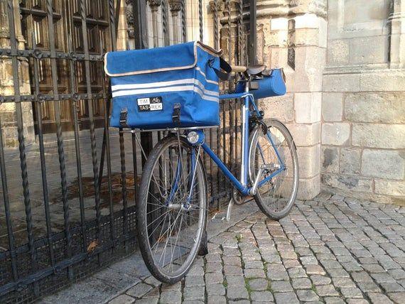 Waxed Canvas Transporttasche Gross Fur Das Porteur Rack Seitentaschen Getrankeflaschen Und Verstauen