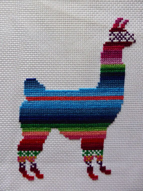 Lenny the Llama Cross Stitch Pattern by Simplistitch on Etsy