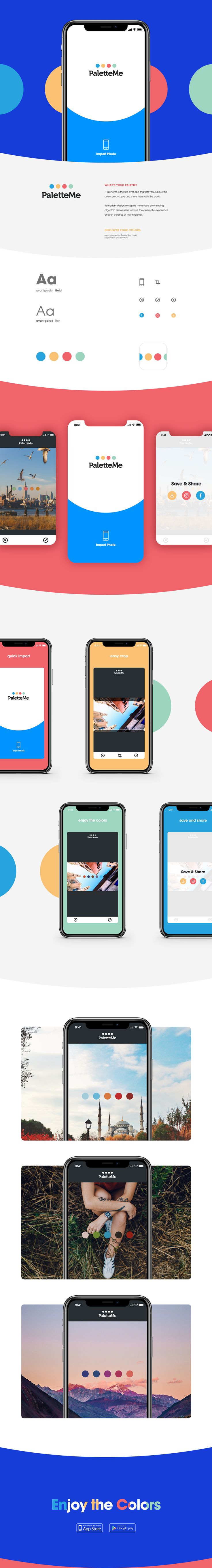 PaletteMe App on Behance