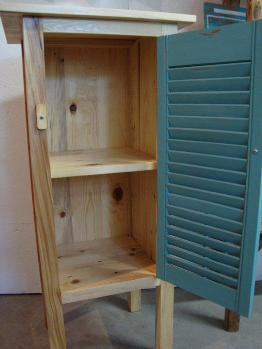 Pallet projects shutter and pallet wood cupboard by for How to make shutters from pallets
